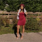 Cute Dress burgundy