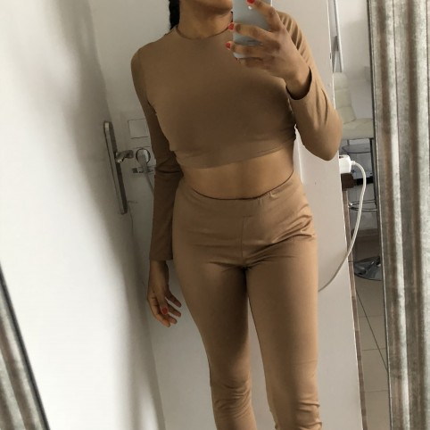 Crop top Tammy camel
