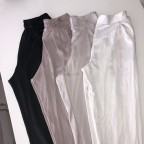 Black Kiara satin pants