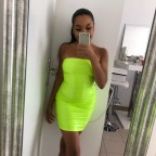 Neon yellow Baddie dress