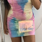 Tie dye bandeau dress
