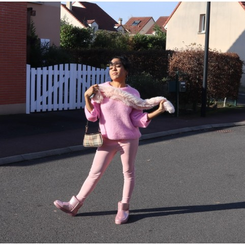 Vrtist Candy pink sweater