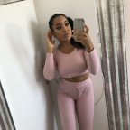 Pink ribbed set - Top