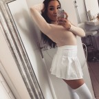 White Vrtist pleated mini-skirt
