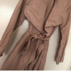 Taupe I'm Busy Trenchcoat