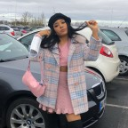 Tweed pastel coat
